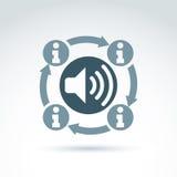 Συλλογή πληροφοριών και εικονίδιο θέματος ανταλλαγής, διανυσματικό conceptua Στοκ Εικόνα