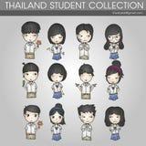 Συλλογή σπουδαστών της Ταϊλάνδης Στοκ Εικόνα