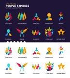 Συλλογή συμβόλων ανθρώπων Στοκ εικόνες με δικαίωμα ελεύθερης χρήσης