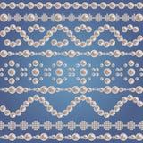 Συλλογή συνόρων μαργαριταριών Στοκ εικόνα με δικαίωμα ελεύθερης χρήσης