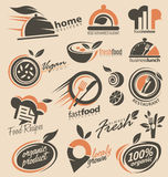 Συλλογή σχεδίου λογότυπων εστιατορίων διανυσματική απεικόνιση