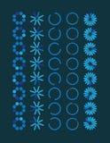 Συλλογή σύγχρονα διανυσματικά preloaders Φραγμός φόρτωσης Στοκ Εικόνες