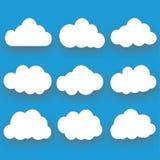 Συλλογή σύννεφων, διανυσματική απεικόνιση Στοκ Εικόνες