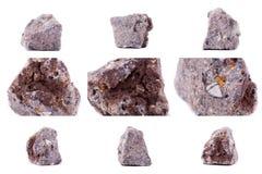 Συλλογή της πέτρας ορυκτό Vanadinite Στοκ Εικόνα