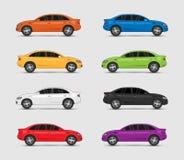 Συλλογή του αυτοκινήτου στα διαφορετικά χρώματα Στοκ Φωτογραφίες