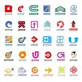 Συλλογή του διανυσματικού βέλους λογότυπων Στοκ Εικόνα