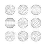 Συλλογή του διανυσματικού προτύπου σφαιρών γραμμών Στοκ εικόνες με δικαίωμα ελεύθερης χρήσης