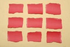 Συλλογή του κόκκινου δακρυ'ου εγγράφου Στοκ Εικόνα