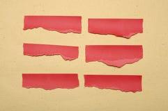 Συλλογή του κόκκινου δακρυ'ου εγγράφου Στοκ Εικόνες