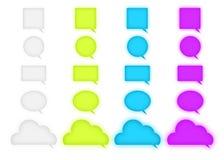 Λεκτικές φυσαλίδες λογότυπων συνομιλίας Στοκ Εικόνες