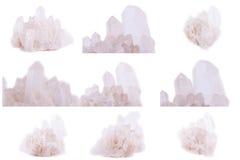 Συλλογή του ορυκτού κρυστάλλου βράχου πετρών Στοκ Εικόνα