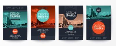 Συλλογή του προτύπου σχεδίου σχεδιαγράμματος κάλυψης φυλλάδιων ιπτάμενων αφισών διανυσματική απεικόνιση