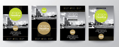 Συλλογή του προτύπου σχεδίου σχεδιαγράμματος κάλυψης φυλλάδιων ιπτάμενων αφισών ελεύθερη απεικόνιση δικαιώματος
