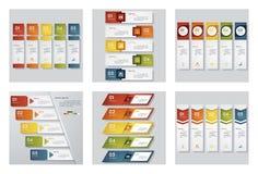 Συλλογή του προτύπου 6 σχεδίου/του γραφικού ή σχεδιαγράμματος ιστοχώρου Διανυσματική ανασκόπηση διανυσματική απεικόνιση