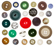 Συλλογή του ραψίματος του κουμπιού στο άσπρο υπόβαθρο Στοκ Εικόνα