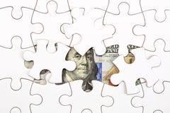 Συλλογή του τραπεζογραμματίου δολαρίων με το γρίφο τορνευτικών πριονιών Στοκ Εικόνες