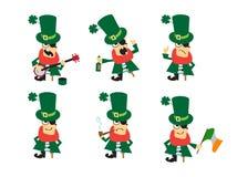 Συλλογή του χαρακτήρα χιούμορ για το σχέδιο Αγίου Patricks Ελεύθερη απεικόνιση δικαιώματος
