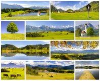 Συλλογή του όμορφου τοπίου πανοράματος στη Βαυαρία Στοκ Εικόνα