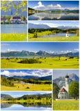 Συλλογή του όμορφου τοπίου πανοράματος στη Βαυαρία Στοκ εικόνα με δικαίωμα ελεύθερης χρήσης