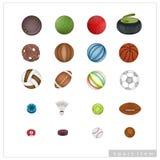 Συλλογή των αθλητικών στοιχείων στο άσπρο υπόβαθρο απεικόνιση αποθεμάτων