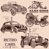 Συλλογή των αναδρομικών αυτοκινήτων Στοκ Εικόνες