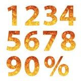 Συλλογή των αριθμών φθινοπώρου Στοκ Φωτογραφίες