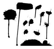 Συλλογή των βουρτσών splatter Στοκ φωτογραφία με δικαίωμα ελεύθερης χρήσης