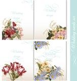Συλλογή των γαμήλιων υποβάθρων με τα λουλούδια Στοκ εικόνες με δικαίωμα ελεύθερης χρήσης