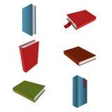 Συλλογή των εικονιδίων με τα βιβλία Στοκ Εικόνες