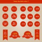 Συλλογή των εκλεκτής ποιότητας ετικετών καταστημάτων - πωλήσεις και προσφορές - τόμος 2 Στοκ φωτογραφία με δικαίωμα ελεύθερης χρήσης