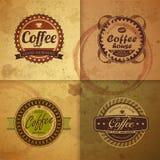 Συλλογή των εκλεκτής ποιότητας ετικετών καφέ απεικόνιση αποθεμάτων