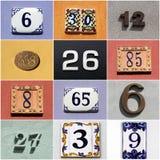 Συλλογή των ζωηρόχρωμων αριθμών σπιτιών στοκ εικόνες με δικαίωμα ελεύθερης χρήσης