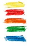 Συλλογή των ζωηρόχρωμων αφηρημένων εμβλημάτων watercolor/λεκτικής της φυσαλίδας Στοκ Φωτογραφία