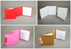 Συλλογή των ζωηρόχρωμων καρτών πέρα από το γκρίζο υπόβαθρο Στοκ Εικόνες