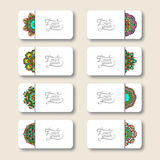 Συλλογή των διακοσμητικών floral επαγγελματικών καρτών, Στοκ Εικόνες