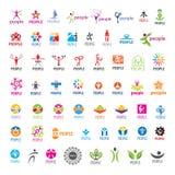 Συλλογή των διανυσματικών ανθρώπων λογότυπων Στοκ εικόνα με δικαίωμα ελεύθερης χρήσης