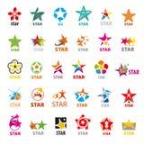Συλλογή των διανυσματικών αστεριών λογότυπων Στοκ Εικόνες