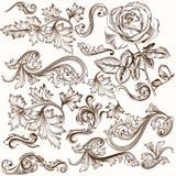 Συλλογή των διανυσματικών διακοσμητικών στροβίλων για το σχέδιο Στοκ Εικόνες