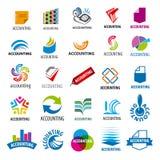 Συλλογή των διανυσματικών λογότυπων που λογαριάζουν την έκθεση Στοκ Φωτογραφία