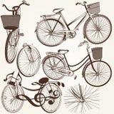 Συλλογή των διανυσματικών συρμένων χέρι ποδηλάτων για το σχέδιο Στοκ φωτογραφία με δικαίωμα ελεύθερης χρήσης