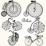 Συλλογή των διανυσματικών συρμένων χέρι ποδηλάτων για το σχέδιο Στοκ Εικόνες