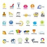 Συλλογή των διανυσματικών χρημάτων λογότυπων, χρηματοδότηση Στοκ φωτογραφίες με δικαίωμα ελεύθερης χρήσης