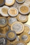 Συλλογή των διμεταλλικών νομισμάτων Στοκ Εικόνες