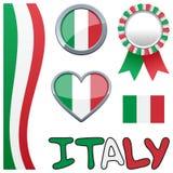 Ιταλικό πατριωτικό σύνολο της Ιταλίας Στοκ Εικόνα