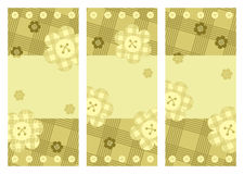 Συλλογή των κάθετων καρτών με τα λουλούδια Στοκ φωτογραφίες με δικαίωμα ελεύθερης χρήσης