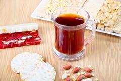 Συλλογή των καραμελών και των γλυκών Mawlid Halawa φασολιών Στοκ Φωτογραφία