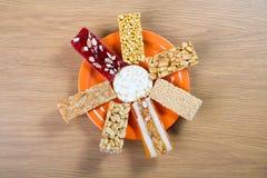 Συλλογή των καραμελών και των γλυκών Mawlid Halawa φασολιών Στοκ φωτογραφίες με δικαίωμα ελεύθερης χρήσης