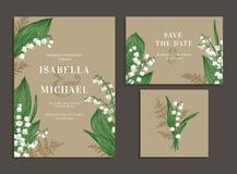 Συλλογή των καρτών με τα λουλούδια Στοκ φωτογραφίες με δικαίωμα ελεύθερης χρήσης