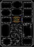 Συλλογή των καλλιγραφικών κυλίνδρων (Διάνυσμα) Στοκ φωτογραφία με δικαίωμα ελεύθερης χρήσης
