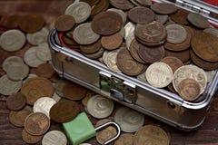 Συλλογή των παλαιών σοβιετικών νομισμάτων rubls Στοκ φωτογραφία με δικαίωμα ελεύθερης χρήσης